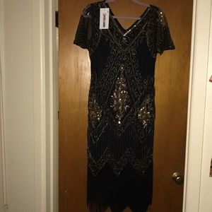 Dresses & Skirts - Sequin Flapper Dress- Roaring 20s Dress - Gatsby